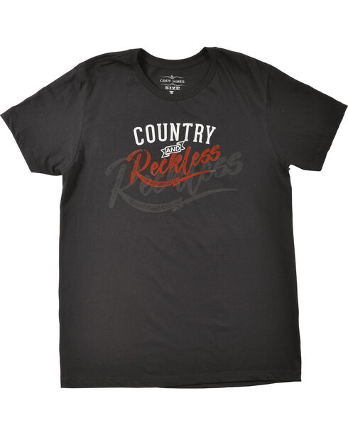 Cody James® Men's Country & Reckless T-Shirt, Black, hi-res
