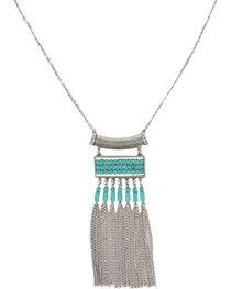 Shyanne® Women's Turquoise & Fringe Necklace, , hi-res