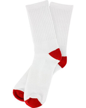 Boot Barn® Youth Basic Crew Socks 3-Pack, White, hi-res