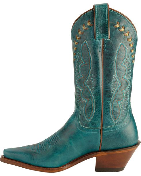 Justin Women's Torino Fashion Western Boots, Turquoise, hi-res