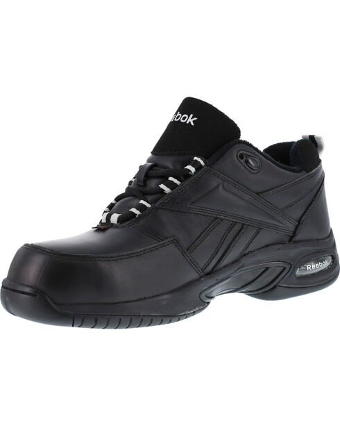 Reebok Men's Tyak High Performance Hiker Work Boots - Composition Toe, Black, hi-res
