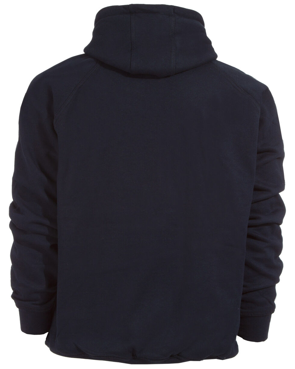 Berne Original Fleece Hooded Pullover - 5XL and 6XL, Navy, hi-res