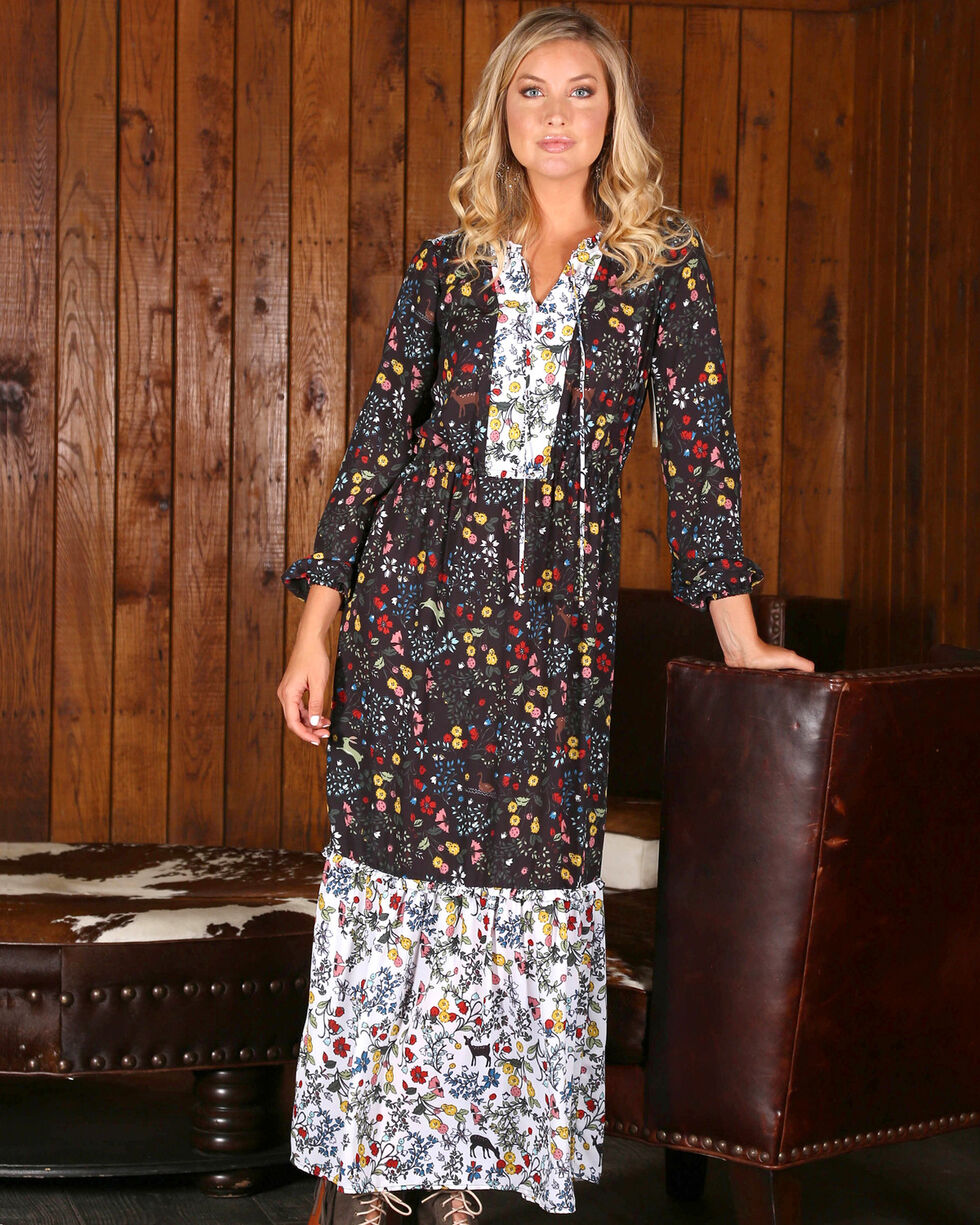Wrangler Women's Floral Maxi Dress , Multi, hi-res