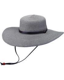 """Peter Grimm Coralia 4 1/2"""" Charcoal Sun Hat, , hi-res"""