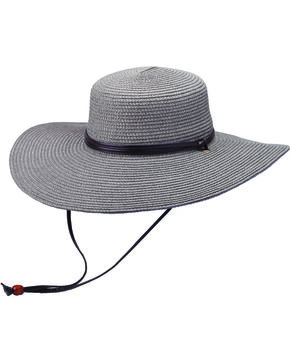 "Peter Grimm Coralia 4 1/2"" Charcoal Sun Hat, Charcoal Grey, hi-res"