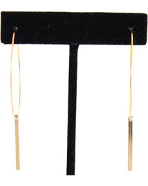 Everlasting Joy Women's Flatliner Hoop Earrings, , hi-res