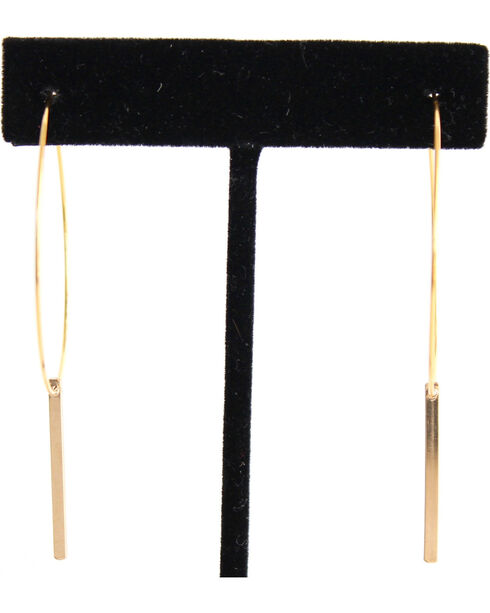 Everlasting Joy Women's Flatliner Hoop Earrings, Gold, hi-res