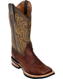 Ferrini Men's French Calf Leather Cowboy Boots - Square Toe, , hi-res
