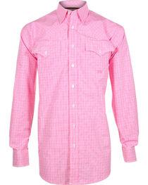 Miller Ranch Men's Plaid Long Sleeve Western Shirt, , hi-res