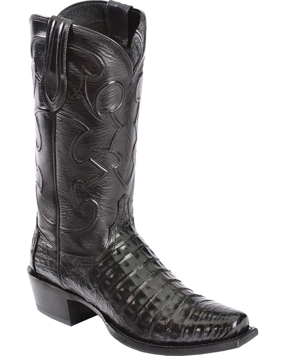 Lucchese Men's Charles John Wayne Crocodile Western Boots | Tuggl
