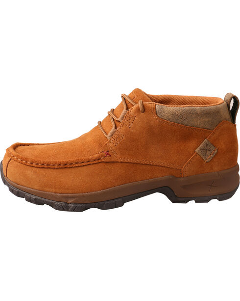 Twisted X Men's Waterproof Rough Out Hiking Shoes, Tan, hi-res