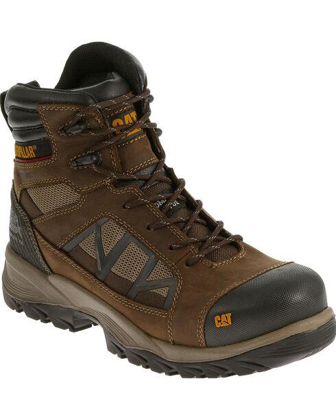 CAT Men's Compressor Waterproof Composite Toe Work Boots, Brown, hi-res