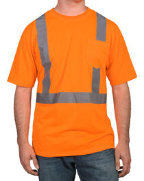 American Worker® Men's Short Sleeve High Visibility T-Shirt, , hi-res
