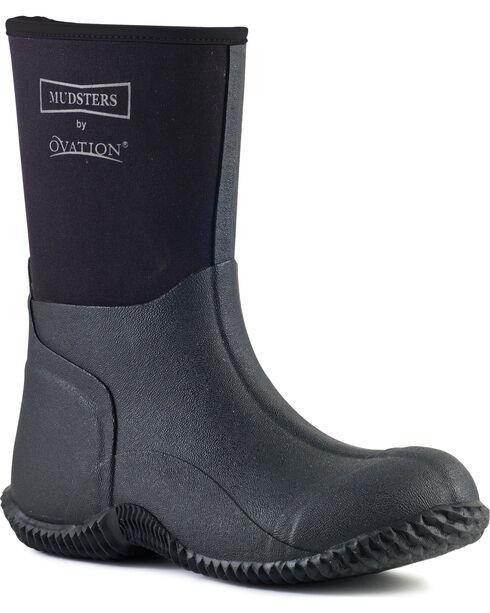 Ovation Women's Mudster Mid-Calf Barn Boots, Black, hi-res