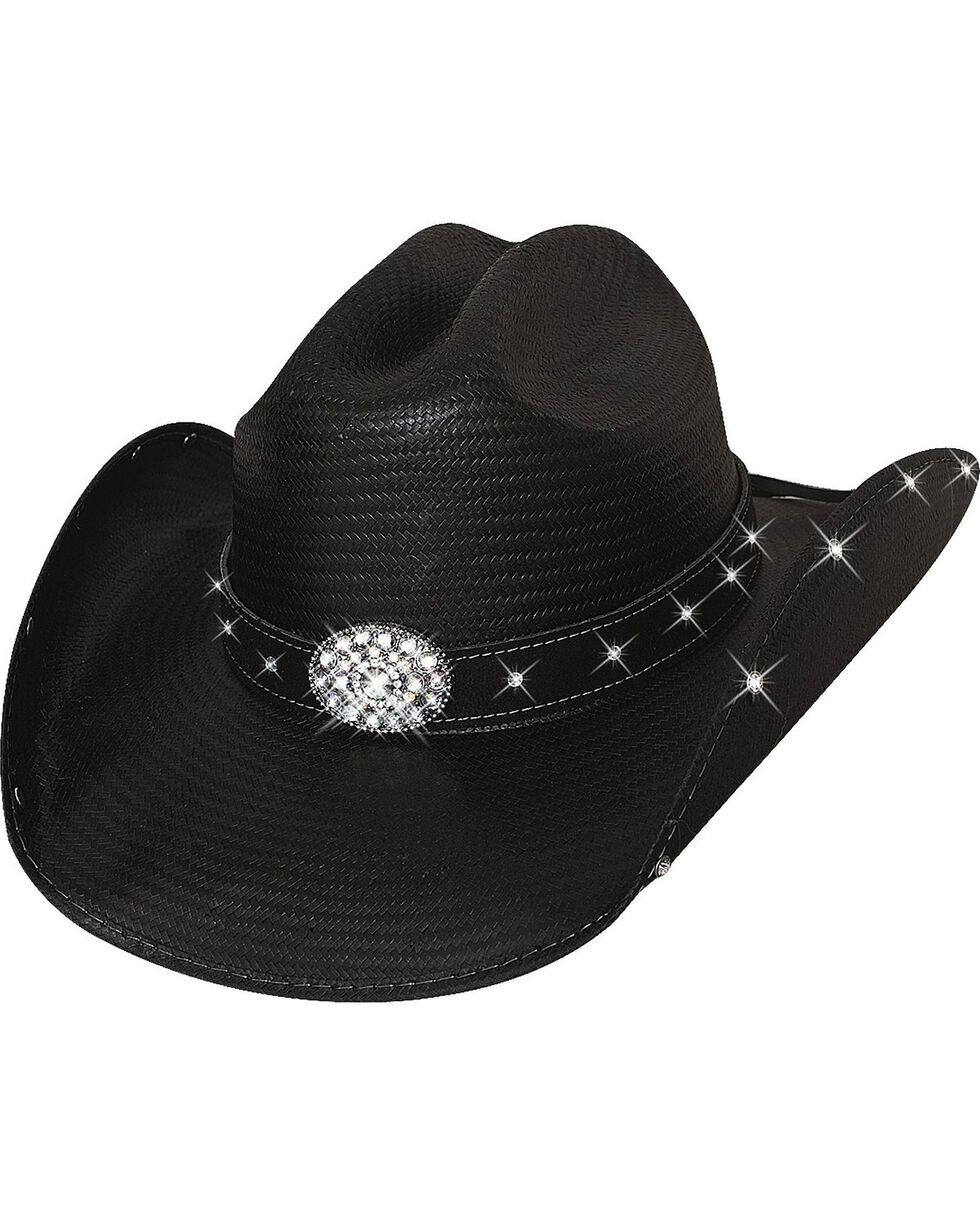 Bullhide Women's Here For A Good Time Straw Hat, Black, hi-res