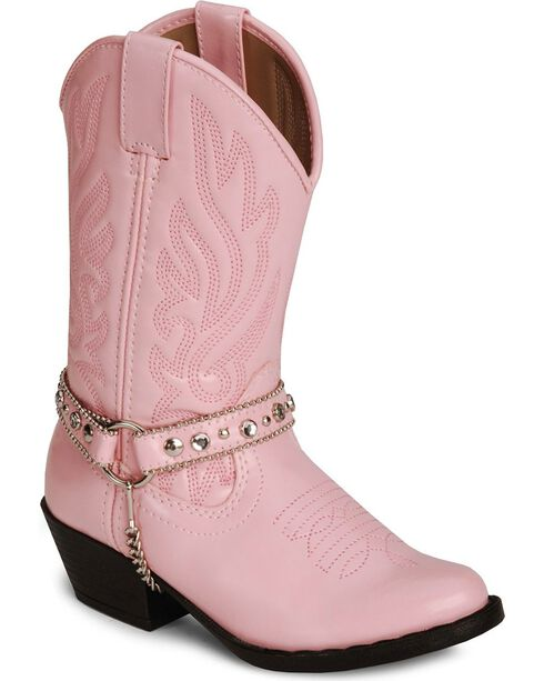 Smoky Mountain Girls' Charleston Cowboy Boots, Pink, hi-res
