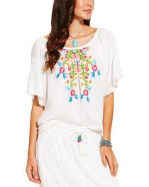 Ariat Women's White Short Sleeve Frida Top , , hi-res