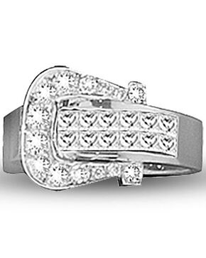 Kelly Herd Women's Silver Buckle Ring , Silver, hi-res