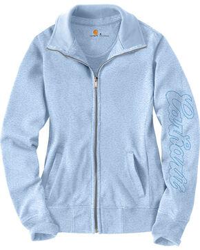 Carhartt Women's Light Blue Dunlow Sweatshirt, Light Blue, hi-res