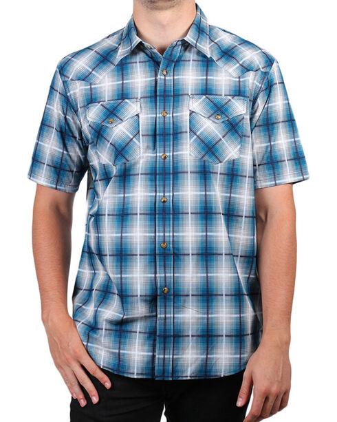 Pendleton Men's Plaid Short Sleeve Shirt, Turquoise, hi-res