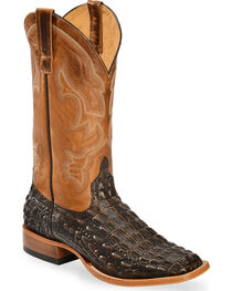 Horse Power Men's Caiman Belly Print Western Boots - Square Toe, , hi-res