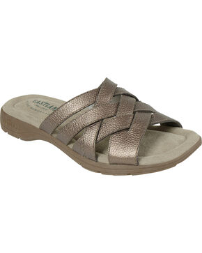 Eastland Women's Silver Hazel Sandals , Silver, hi-res