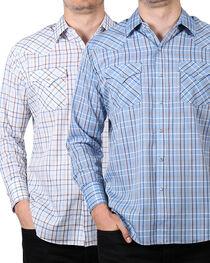 Ely Cattleman Men's Assorted Plaid Snap Long Sleeve Shirt - Tall, , hi-res