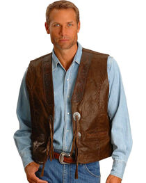 Kobler Tooled Leather Vest, , hi-res