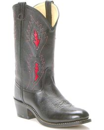 Old West Children's Underlay Cowboy Boots - Round Toe , , hi-res