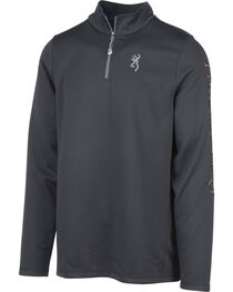 Browning Men's Black Pitch Quarter Zip Pullover , , hi-res