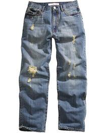 Tin Haul Men's Hoss Heavy Destruction Loose Fit Straight Leg Jeans, , hi-res