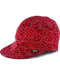 American Worker Men's Paisley Red Welding Cap, , hi-res