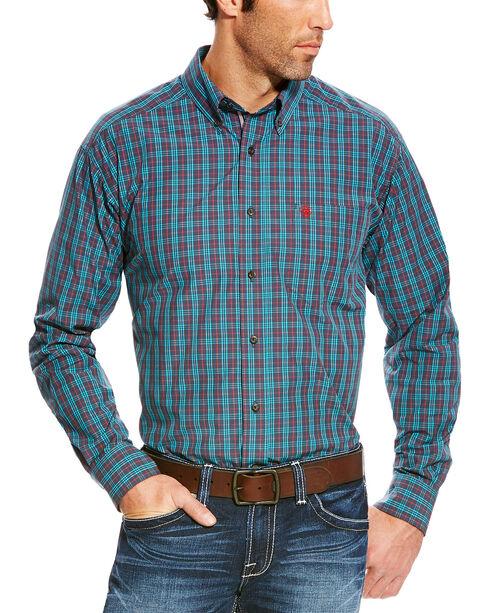 Ariat Men's Blue Avinger Long Sleeve Western Shirt - Tall , Blue, hi-res
