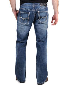 Rock & Roll Cowboy Men's Pistol Reflex Straight Leg Jeans, Medium Blue, hi-res