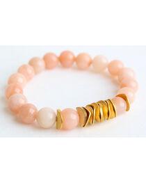 Everlasting Joy Women's Pink Aventurine Chip Bracelet, , hi-res