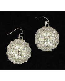 Blazin Roxx Women's Round Drop Center Stone Earrings, , hi-res