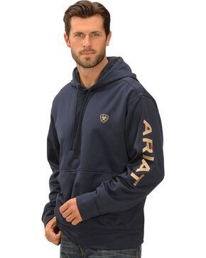 Ariat Eclipse Tek Fleece Logo Hoodie, Navy, hi-res