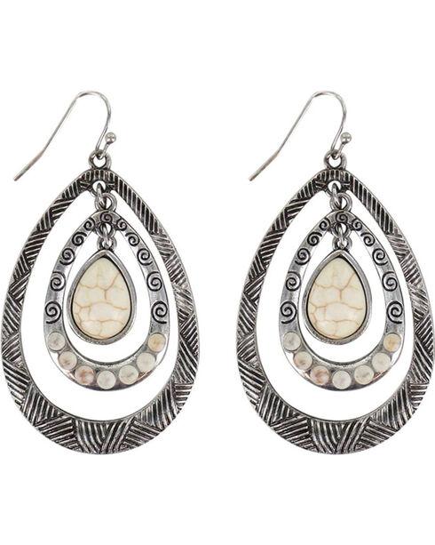 Shyanne® Women's Layered Teardrop Earrings, Silver, hi-res