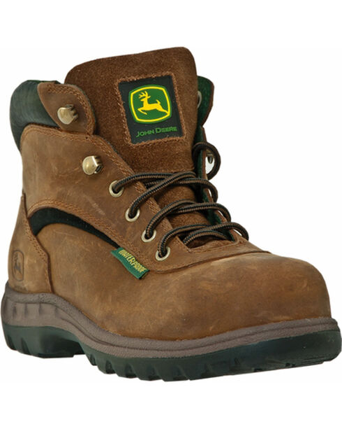 John Deere Women's Waterproof Hiker Boots, Tan, hi-res
