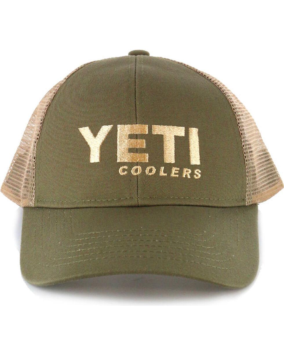 Yeti Men's Olive Green Traditional Trucker Hat , Olive, hi-res