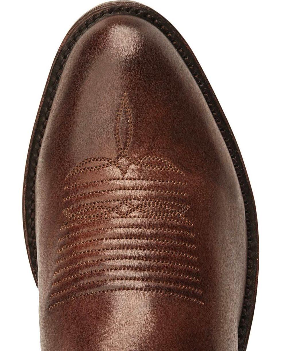 Lucchese Handmade 1883 Ranch Hand Cowboy Boots -  Round Toe, Tan Burnish, hi-res