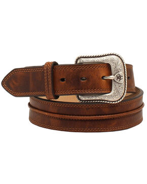 Ariat Men's Leather Belt, Aged Bark, hi-res