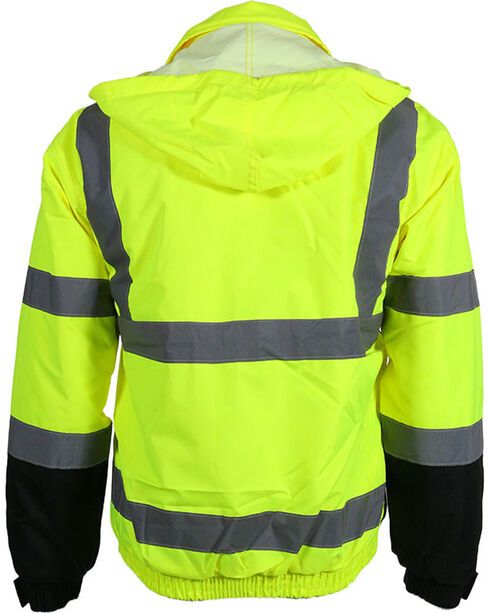 Utility Pro Men's High-Visibility Bomber Jacket, Yellow, hi-res
