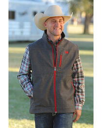 Cinch Men's Grey Printed Bonded Vest , , hi-res