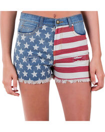 Others Follow Women's Patriot Flag Shorts, , hi-res