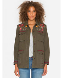 Johnny Was Women's Olive Bonnie Drawstring Military Jacket , , hi-res