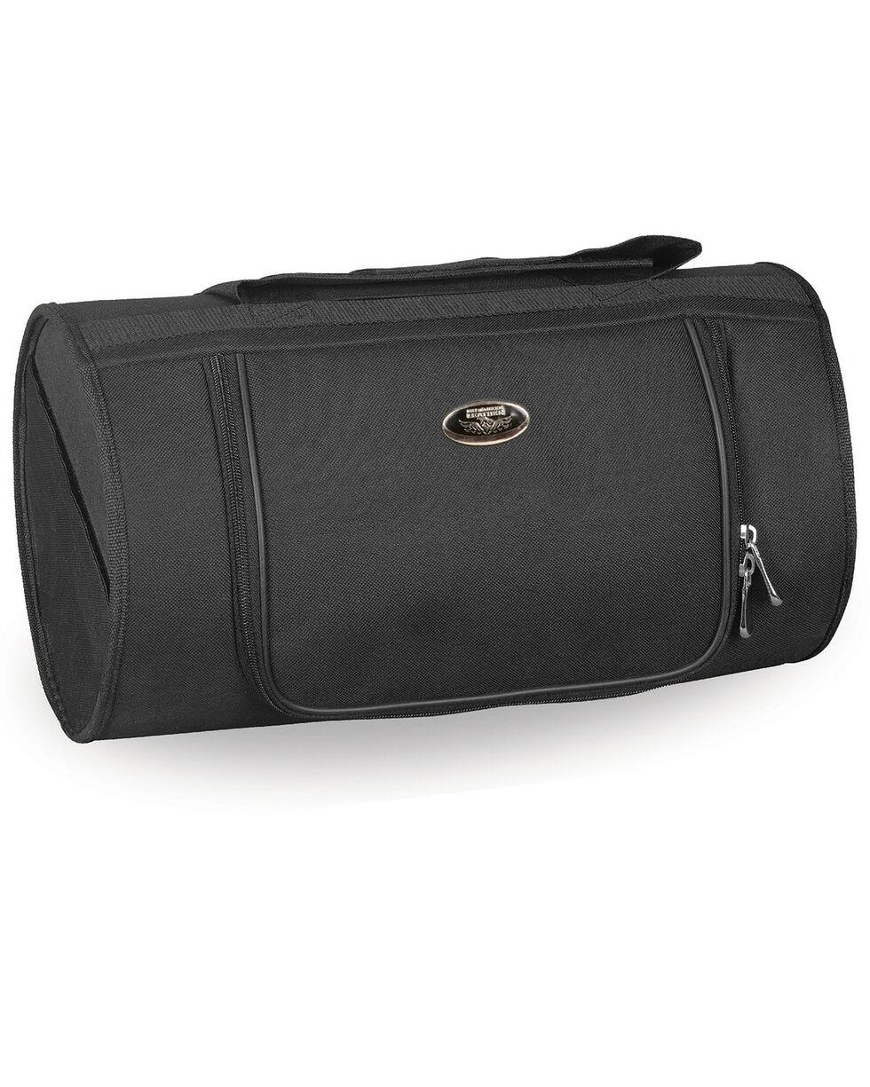 Milwaukee Leather Black Textile Roll Top Bag , Black, hi-res