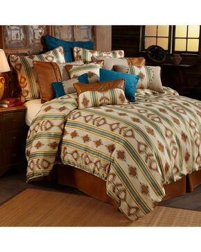 HiEnd Accents Alamosa Five-Piece Super Queen Bedding Set, Multi, hi-res