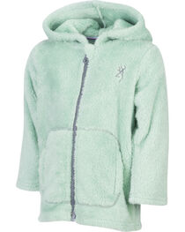 Browning Toddler Girls' Green Teddy Bear Jacket , , hi-res