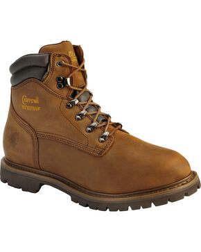 "Chippewa Men's Industrial Insulated 6"" Waterproof Lace Up Work Boots, Bark, hi-res"